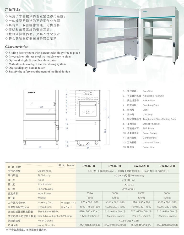SW-CJ系列医用型洁净工作台