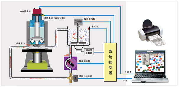 BT-1800动态图像颗粒分析系统原理图